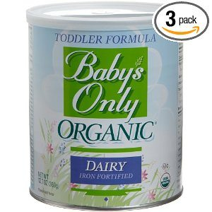 Babys Only Organic Toddler Formula, Dairy Iron Fortified, 12.7-Ounce Canisters (Pack of 3) Deal