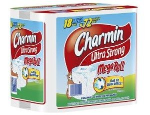 Charmin Ultra Strong, Mega Rolls, 6 Count Pack (Pack of 3) 18 Total Rolls  [Amazon Frustration-Free Packaging] Deal