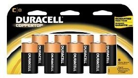 Duracell Coppertop Batteries C, 8-Count Deal