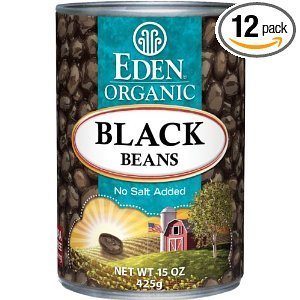 Eden Organic Black Beans, No Salt Added, 15-Ounce Cans (Pack of 12) Deal