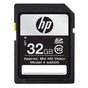 HP 32 GB Class 10 SDHC Flash Memory Card (CG790A-AZ) Deal