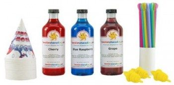 Hawaiian Shaved Ice Syrup - 3 Flavor Fun Pack Deal