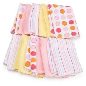Spasilk 10 Pack Soft Terry Washcloth, Pink Deal