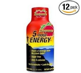 5 Hour Energy Pomegranate, 1.93-Ounce Bottles (Pack of 12) Deal