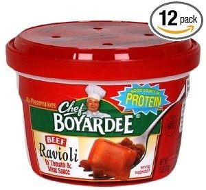 Chef Boyardee Beef Ravioli, 7.5-Ounce Microwavable Bowls (Pack of 12) Deal