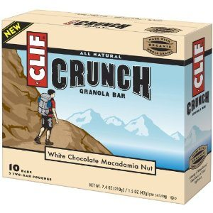 Clif Crunch Bar, White Chocolate Macadamia Nut, 10 Count Deal