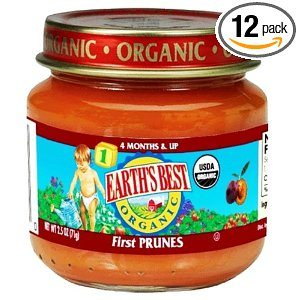 Earth's Best Organic 1st Prunes (4 months & up), 2.5-Ounce Jars (Pack of 12) Deal