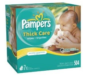 Pampers ThickCare Unscented Wipes Refill - 7x Box - 504 Count Deal