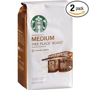 Starbucks Pike Place Roast Coffee, Ground, (Medium) 12-Ounce Bags (Pack of 2) Deal