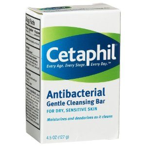 Cetaphil Antibacterial Gentle Cleansing Bar, 4.5-Ounce Bar (Pack of 6) Deal