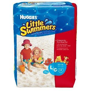 Huggies Little Swimmers Disposable Swimpants (Character May Vary), Large, 17 Count Deal