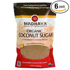 Madhava Organic Coconut Sugar, 16-Ounce (Pack of 6) Deal
