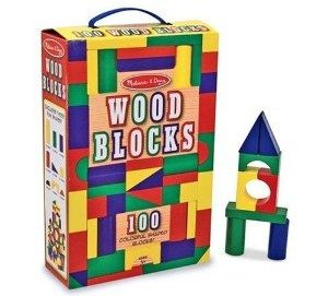 Melissa & Doug 100-Piece Wood Blocks Set Deal