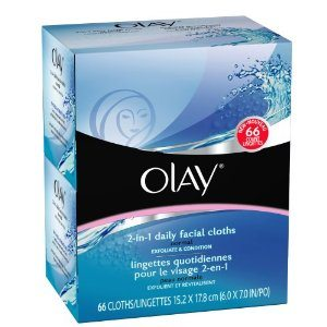 Olay 2-in-1 Normal Daily Facial Cloths, 66-Count Deal