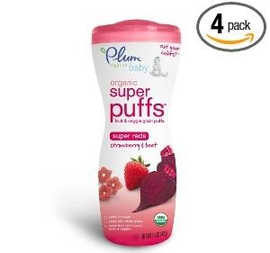 Plum Organics Super Puffs Reds, Strawberry & Beet, 1.5-Ounce (Pack of 4) Deal