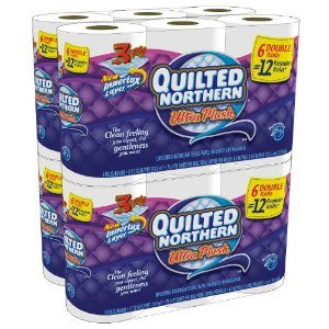 Quilted Northern Ultra Plush, Double Rolls, 24 Count Deal
