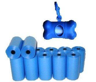 220 Biodegradable, Dog Waste Bags, Pet Waste Bags - BLUE + FREE Bone Dispenser, by Pet Supply City LLC Deal