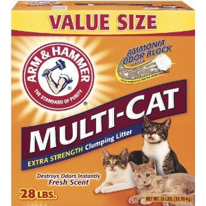 Arm & Hammer Multi-Cat Strength Clumping Litter, 28-Pound Deal