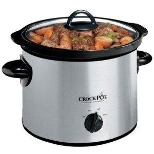 Crock-Pot SCR300SS 3-Quart Round Manual Slow Cooker, Stainless Steel Deal