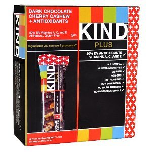 KIND PLUS, Dark Chocolate Cherry Cashew + Antioxidants, Gluten Free Bars (Pack of 12) Deal