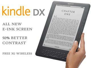 "Kindle DX, Free 3G, 9.7"" E Ink Display, 3G Works Globally Deal"