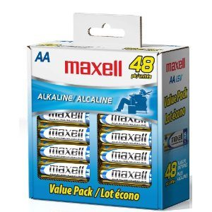 Maxell 723443 LR6 AA Cell 48 Pack Box Battery Deal