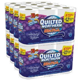 Quilted Northern Ultra Plush, Double Rolls, 48 Count Deal