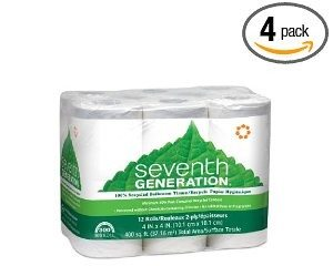 Seventh Generation Bathroom Tissue, 2-ply, 300 Sheets, 12-Count (Pack of 4) Deal