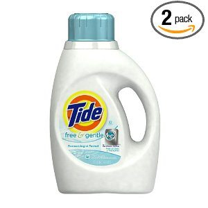 Tide Free and Gentle High Efficiency Unscented Detergent, 50 Ounce (Pack of 2) Deal