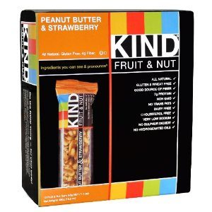 KIND Fruit & Nut, Peanut Butter & Strawberry, Gluten Free Bars (Pack of 12) Deal