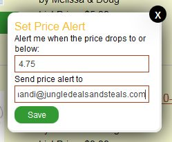 Jungle Deals & Steals Search Alert