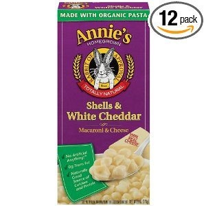 Annie's Homegrown Shells & White Cheddar Macaroni & Cheese, 6-Ounce Boxes (Pack of 12) Deal