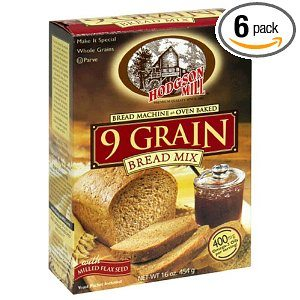 Hodgson Mill 9 Grain Bread Mix, 16-Ounce Boxes (Pack of 6) Deal