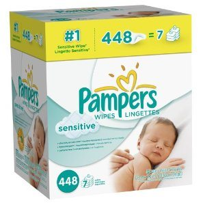 Pampers Sensitive Wipes 7x Box 448 Count Deal