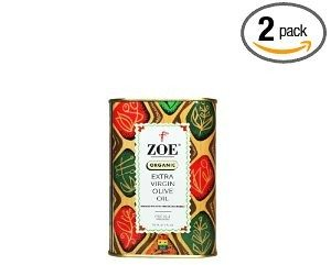 Zoe Organic Extra Virgin Olive Oil, 25.5- Ounce tins/750ml (Pack of 2) Deal