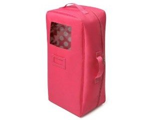 Badger Basket Doll Travel Case With Bed And Bedding - Dark Pink Deal