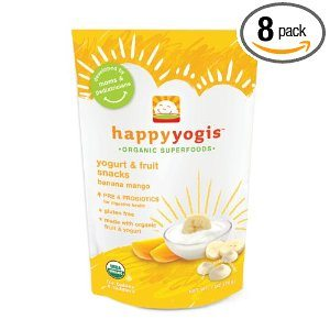 Happy Yogis Organic Yogurt Snacks for Babies and Toddlers, Banana Mango, 1-Ounce Pouches (Pack of 8) Deal