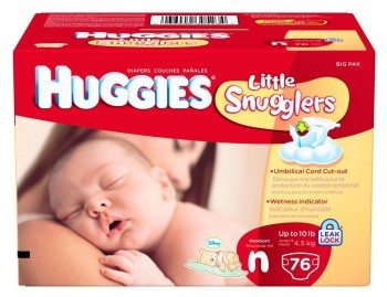 Huggies Little Snugglers Diapers for Newborn, Big Pack, 76 Count Deal
