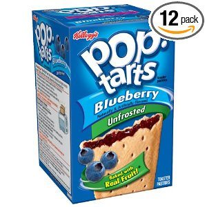 Pop-Tarts, (Not Frosted) Blueberry, 8-Count Tarts (Pack of 12) Deal