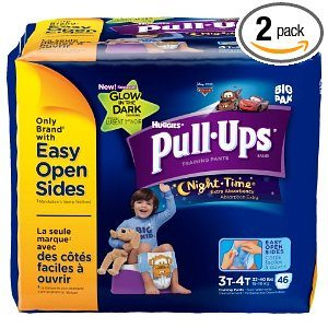 Pull-Ups Night-time Training Pants, Size 3T-4T, Boy, 46 Count (Pack of 2) Deal