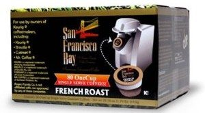 San Francisco Bay Coffee One Cup for Keurig K-Cup Brewers, French Roast, 80-Count Deal