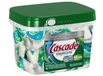Cascade Complete All-in-1 ActionPacs Dishwasher Detergent, Fresh Scent, 30.5 Oz, 48-Count Deal