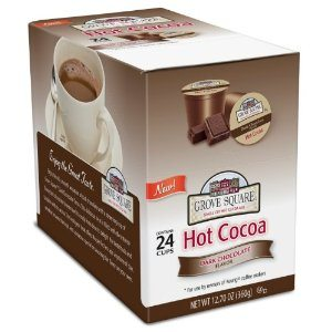 Grove Square Hot Cocoa Cups, Dark,Single Serve Cup for Keurig K-Cup Brewers, 24-Count Deal