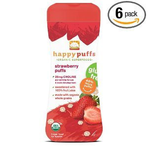 Happy Baby Gluten-Free Organic Puffs, Strawberry Puffs, 2.1-Ounce Containers (Pack of 6) Deal