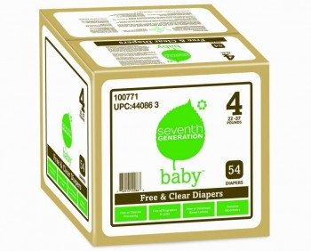 Seventh Generation Free & Clear Diapers, Super Jumbo Box -- Stage 4,  54 Count Deal