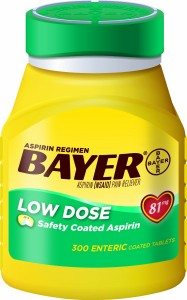 Bayer Aspirin Regimen Low Dose 81mg, Enteric Coated Tablets, 300-Count Deal