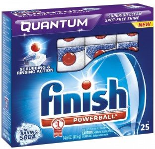 Finish Quantum Dishwasher Detergent with Baking Soda, 25-Count Deal
