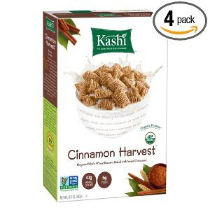 Kashi Organic Cereal, Cinnamon Harvest, 16.3-Ounce Boxes (Pack of 4) Deal