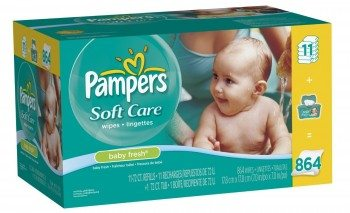 Pampers Softcare Baby Fresh Wipes 12x Box With Tub 864 Count Deal