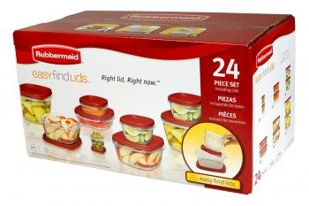 Rubbermaid Easy Find Lid 24-Piece Food Storage Container Set Deal